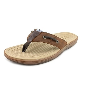 Sperry Top Sider Baitfish Thong Open Toe Leather Thong Sandal