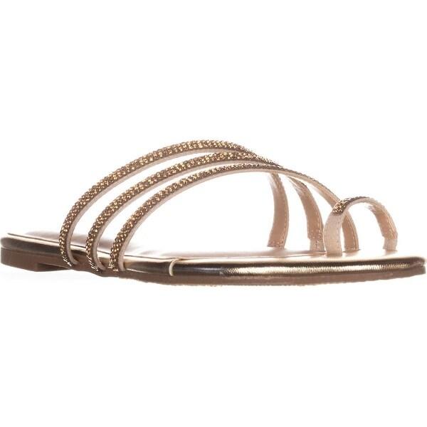 TS35 Jaynne Toe Ring Slide Sandals, Gold Metallic - 8.5 us