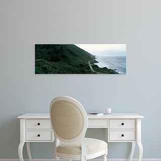 Easy Art Prints Panoramic Images's 'Coastline, Big Sur, California, USA' Premium Canvas Art