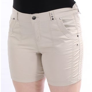 STYLE & COMPANY Womens New 1358 Beige Cropped Casual Short Petites 10 B+B