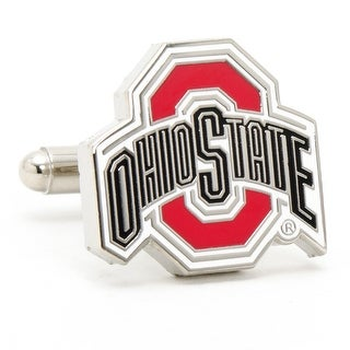 Silver Plated Ohio State University Buckeyes Cufflinks