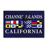 Channel Islands, California - Nautical Flags (Acrylic Wall Clock) - acrylic wall clock