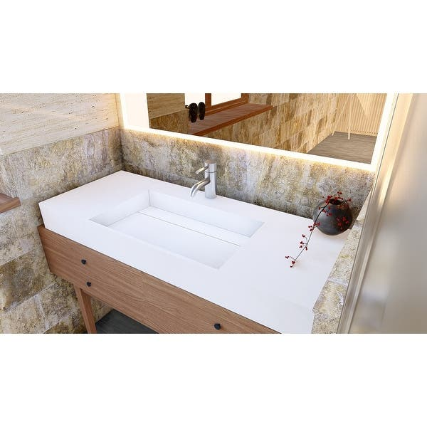 Juniper 48 Solid Surface Bathroom Vanity Top Overstock 32133943