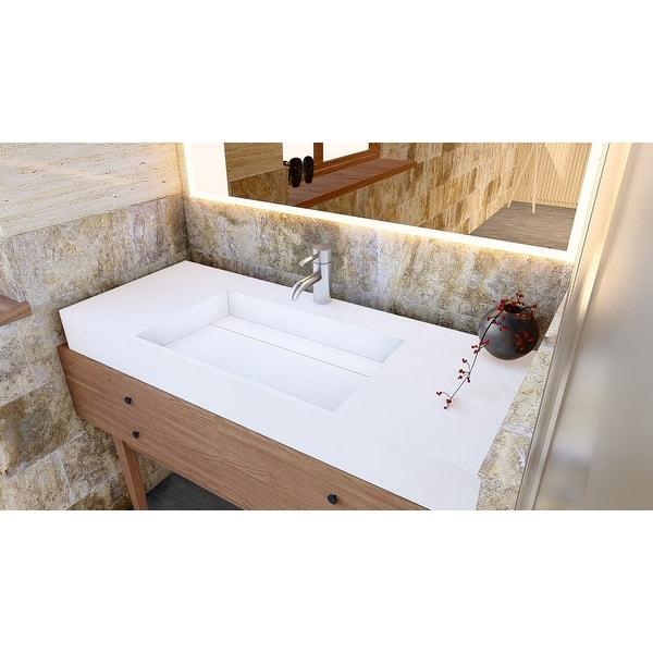 Juniper 48 Solid Surface Bathroom Vanity Top Overstock 32133943