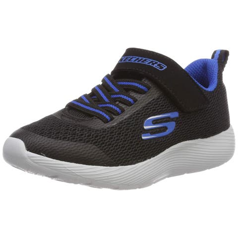 Skechers Kids Girls' DYNA-LITE Sneaker Black/Blue 7 Medium US Toddler