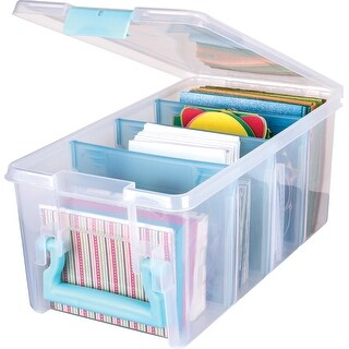 Artbin Super Semi Satchel-Aqua Handle, Latch & Dividers