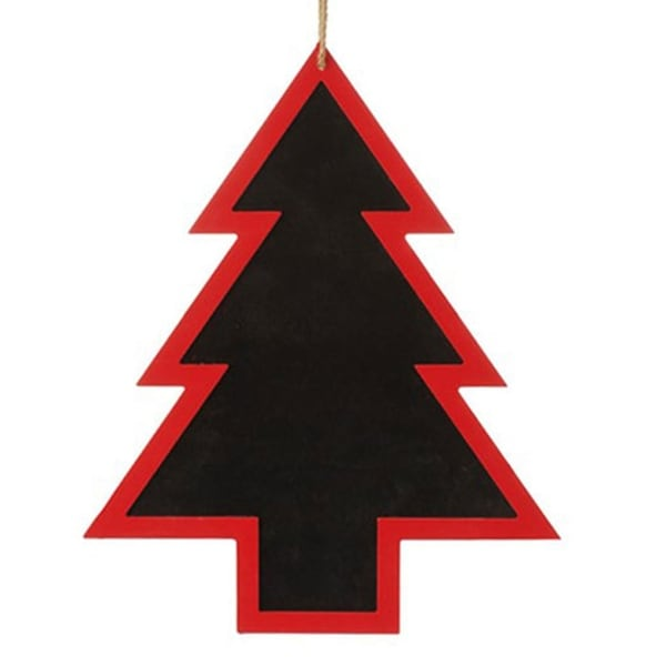 "16.5"" Alpine Chic Red and Black Tree Shaped Christmas Ornament"