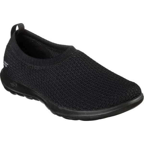 on sale b1bc0 07df7 Shop Skechers Women s GOwalk Lite Eclectic Slip-On Walking Shoe Black Gray  - Free Shipping Today - Overstock - 25490524
