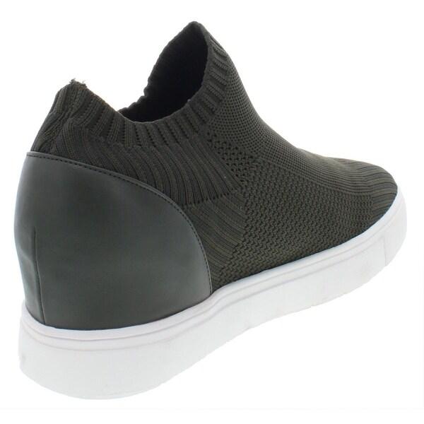 Sly Black Knit Sneakers | Wedge sneakers style, Sneakers
