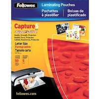"""Fellowes Laminating Pouches, Thermal, Superquick 11.5""""(H) X 9""""(W) Size, 5 Mil, 100 Pack (5223001)"""