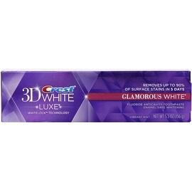 Crest 3D White Luxe Glamorous White Whitening Toothpaste, Vibrant Mint 5.5 oz