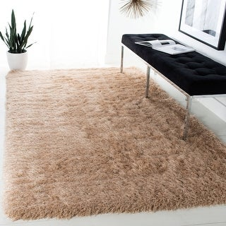 Link to Safavieh Handmade Venice Shag Djenka Solid Polyester Rug Similar Items in Shag Rugs