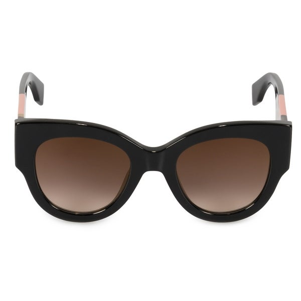 68fcac95c5c Shop Fendi Facets Cat Eye Sunglasses FF0264S 807 JL 51 - Free ...