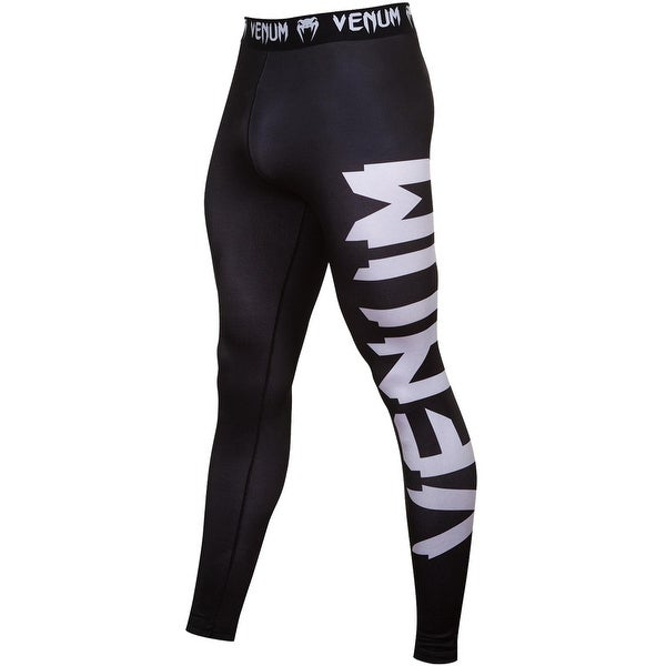 Venum Giant Spandex 4-Way Construction Grappling Spats - Black/White
