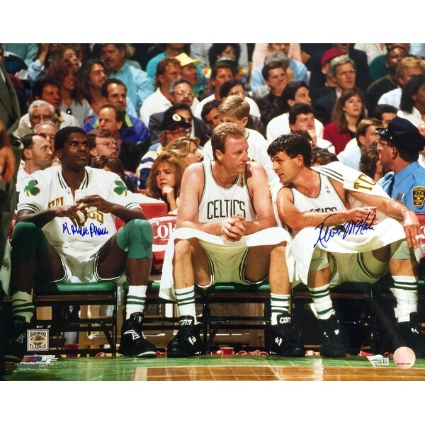 buy popular 0a75f 44988 Robert Parish Kevin McHale Signed 16x20 Boston Celtics Bench Photo Fanatics
