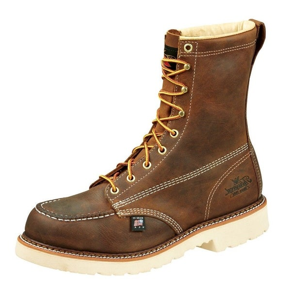 Thorogood Work Boots Mens Job Pro Moc Steel Toe Brown Trail 804-4378