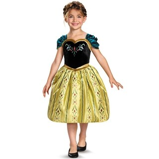 Disguise Anna Coronation Gown Classic Child Costume - Yellow/Green