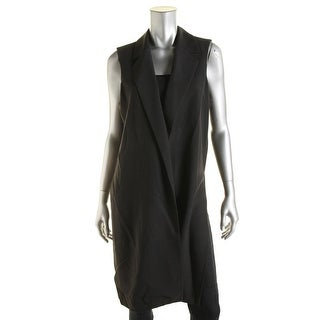 Aqua Womens Open Front Collared Outerwear Vest