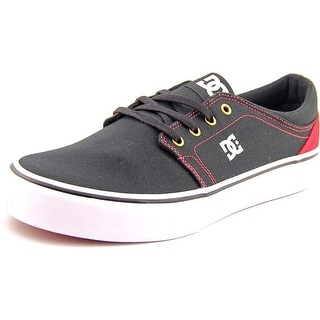 DC Shoes Trase TX Men Round Toe Canvas Black Skate Shoe