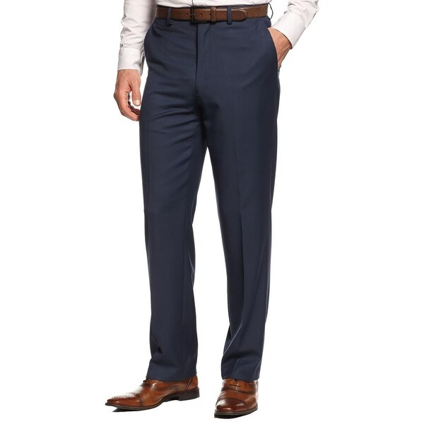 MICHAEL Michael Kors Mens Dress Pants Twill Flat Front