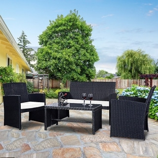 Merveilleux Black Patio Furniture | Find Great Outdoor Seating U0026 Dining Deals Shopping  At Overstock.com