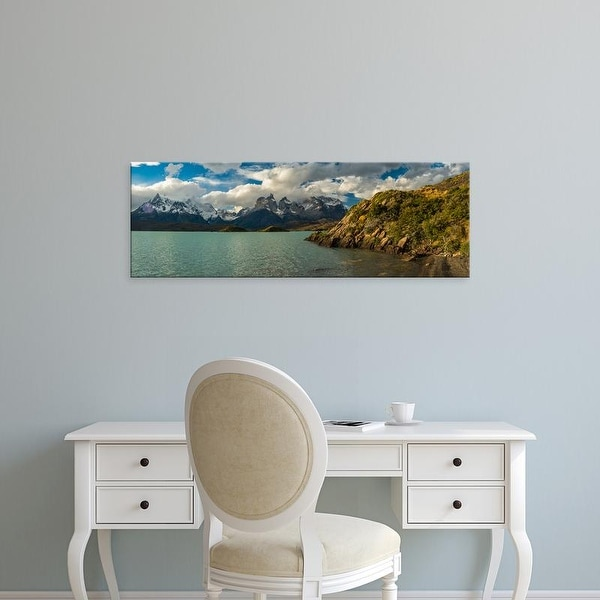 Easy Art Prints Panoramic Images's 'A lake, Lake Pehoe, Torres de Paine National Park, Patagonia, Chile' Canvas Art
