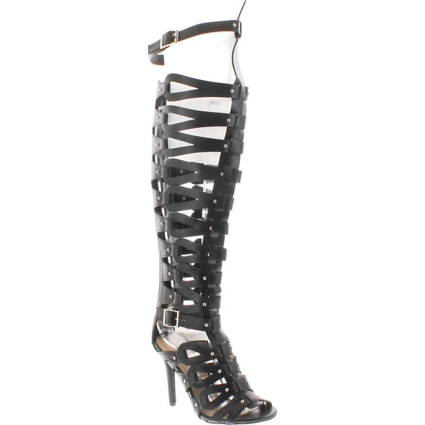 52c6107d2fd Shop Breckelles Womens Diva-31 Gladiator High Heel Sandals - Black-31 -  Free Shipping Today - Overstock.com - 14948188