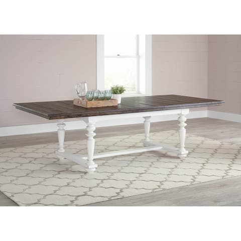 Caliban Latte and Vintage White Rectangle Dining Table