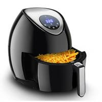 Gymax 3.4Qt 1400W Oil Free Electric Air Fryer Temperature and Time Control