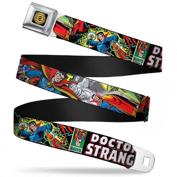 Marvel Comics Doctor Strange Eye Of Agamotto Full Color Black Gold Classic Seatbelt Belt