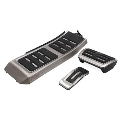 3Pcs Accelerator Brake Rest Foot Footrest Pedals Pad Set for Audi A4 B8 S4