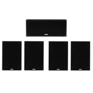 Acoustic Audio 4 Bookshelf & Center Home Speakers 5 Piece Set 350 Watt PS-S5C4-5