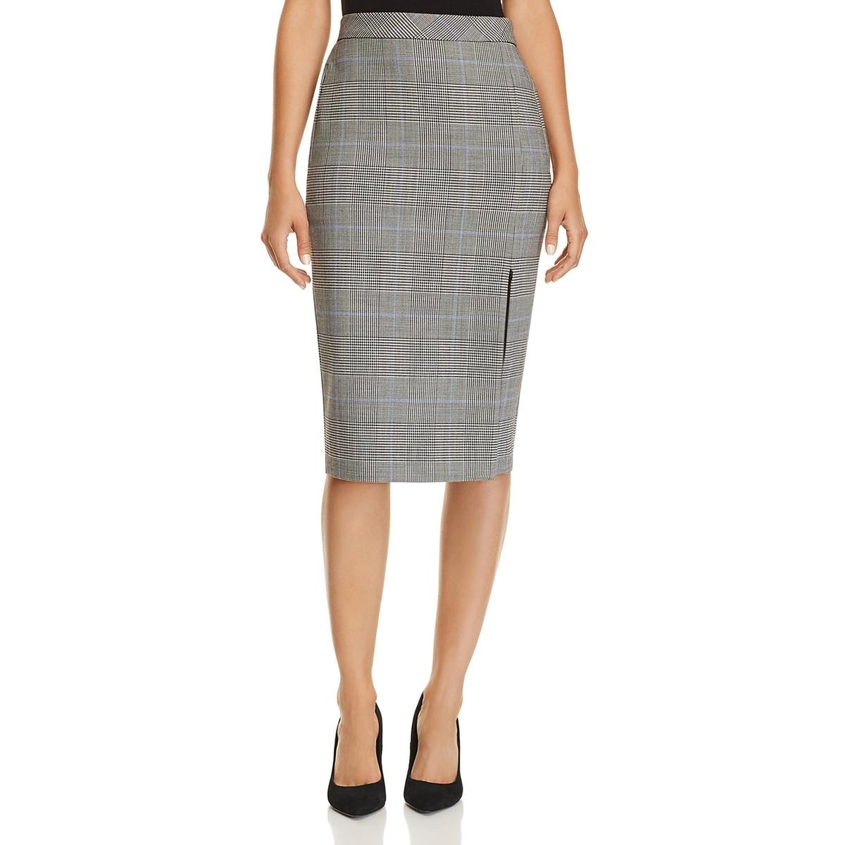Womens Pencil Skirt Office Wear Plaid
