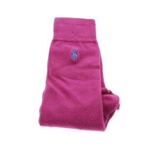Polo Ralph Lauren Mens Flat Knit Embroidered Dress Socks - 10-13