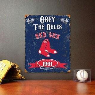 Party Animal Mlb Embossed Metal Vintage Pub Signs,Boston Red Sox