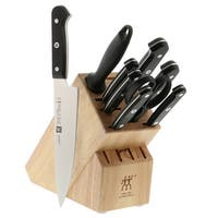 ZWILLING Gourmet 10-pc Knife Block Set - Black/Stainless Steel