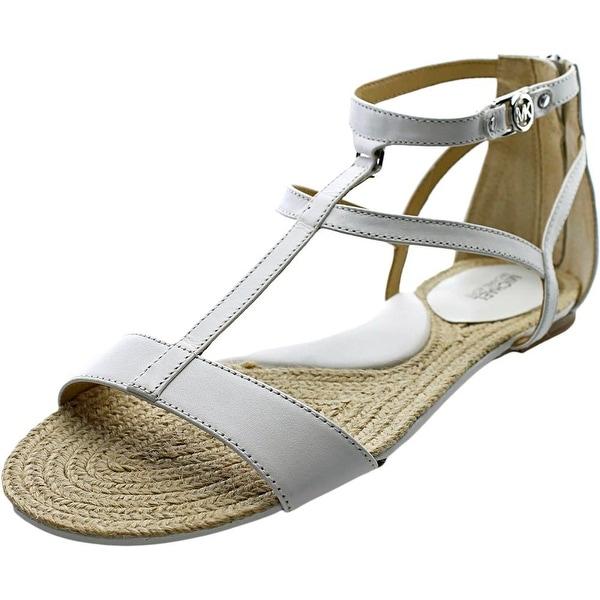 Michael Michael Kors Bria Flat Sandal Women Open Toe Leather Gladiator Sandal