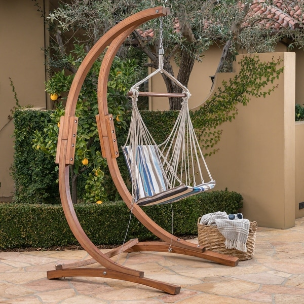 Griffith Outdoor Fabric Hanging Chair (Frame Not Included) by Christopher Knight Home. Opens flyout.