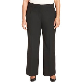 Tahari ASL Womens Plus Nicky Dress Pants Flat Front No Pockets - 24W
