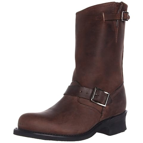 Frye Womens Engineer 12R Leather Closed Toe Mid-Calf Fashion Boots