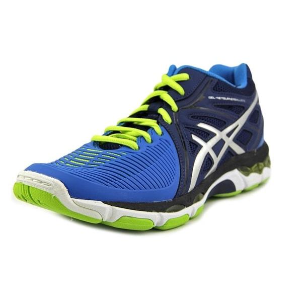 Asics Gel-Netburner Ballistic Men Navy/Silver/Electric Blue Running Shoes