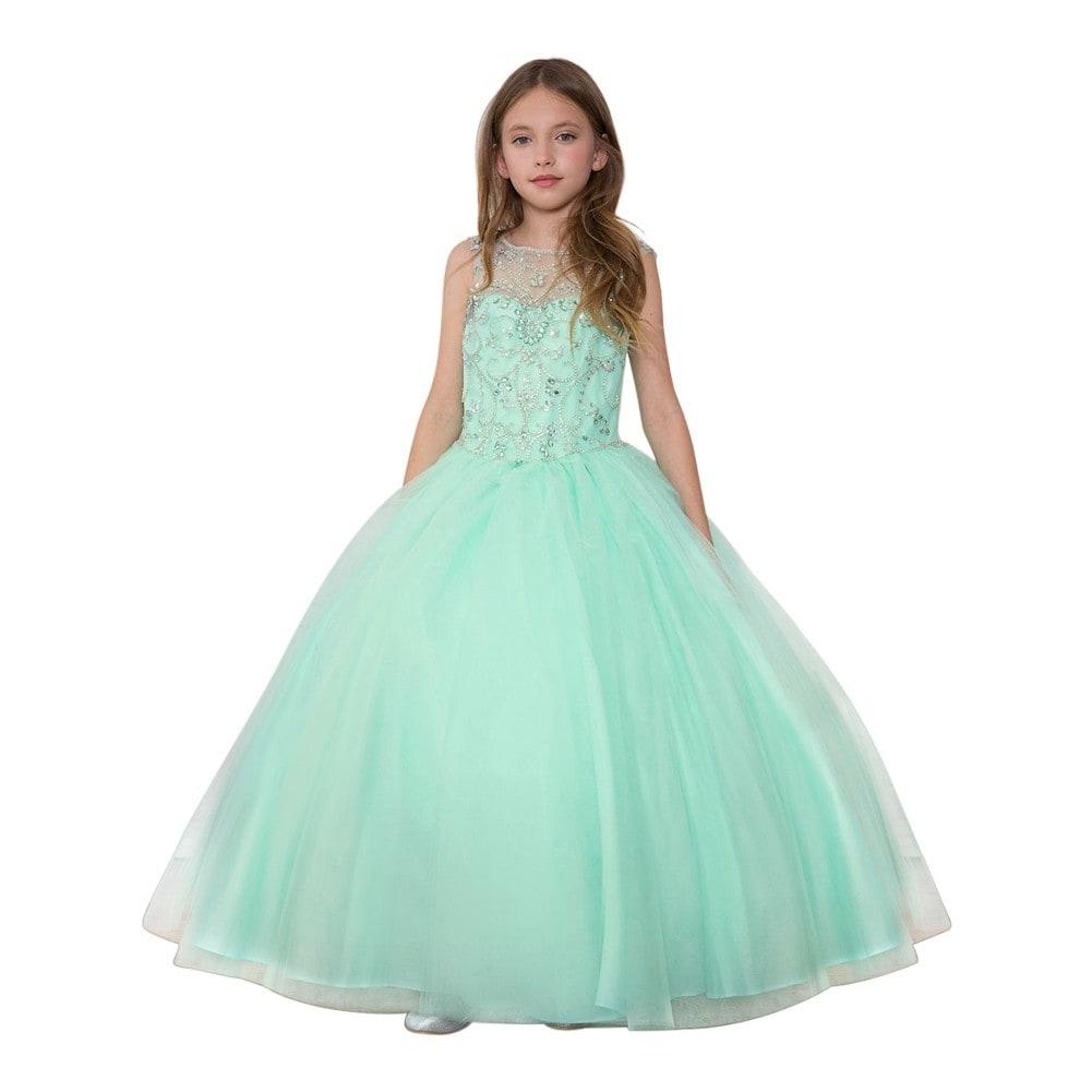 Cinderella Girl Dress Princess Kids Pageant Party Dance Wedding Birthday Gown AB
