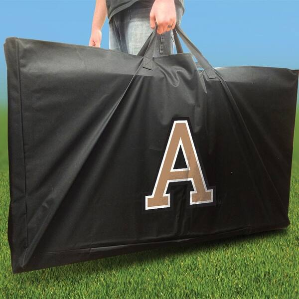 Army Black Knights Distressed Football Field Cornhole Set with Bags