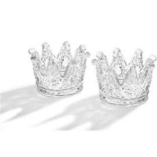 Godinger 44482 Pair of Crown Votive Holders