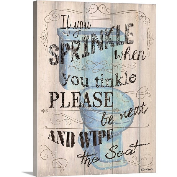 """""""If You Sprinkle"""" Canvas Wall Art"""