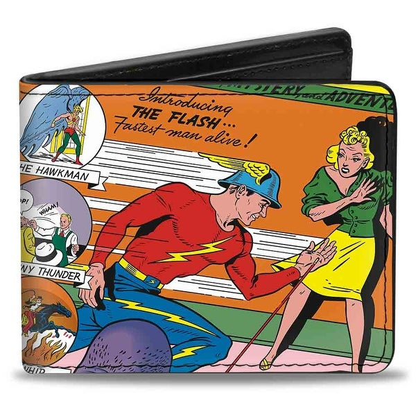 Classic Flash Comics Issue #1 Introducing Flash Cover Pose Bi Fold Wallet - One Size Fits most