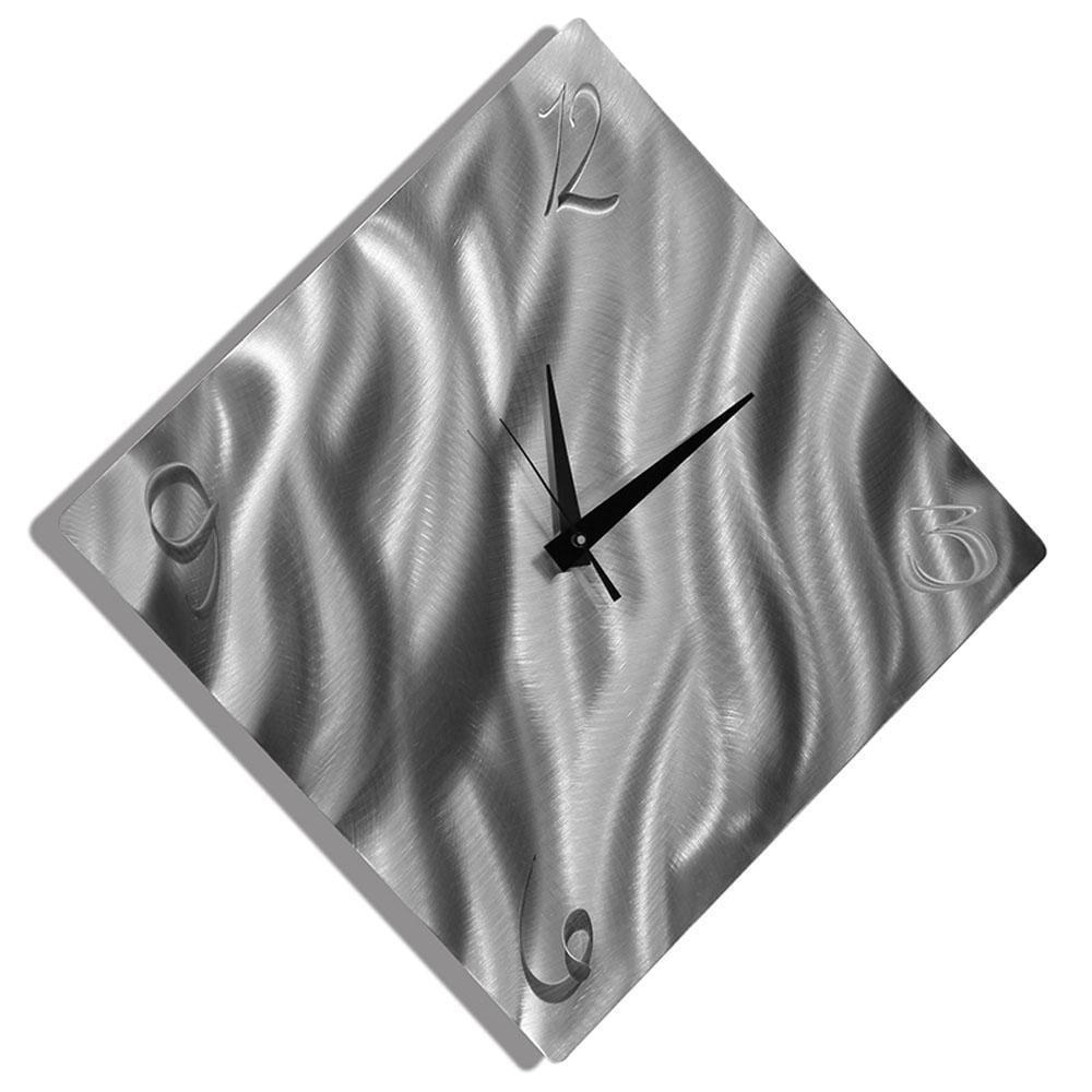 Statements2000 Silver 17-inch Metal Wall Clock by Jon Allen - Final Countdown - Thumbnail 0