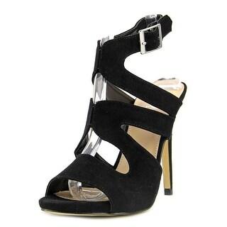 Diba Shiloh Women  Open-Toe Suede Black Heels