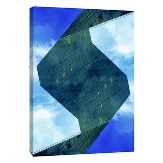 "PTM Images 9-106044  PTM Canvas Collection 10"" x 8"" - ""Folded Architecture 23"" Giclee Abstract Art Print on Canvas"