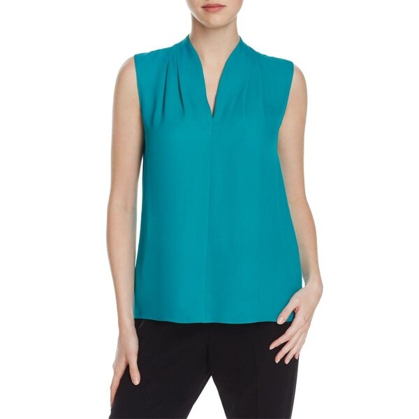 a6e2443b60dc80 Shop Elie Tahari Womens Judith Blouse Silk V-Neck - Free Shipping Today -  Overstock - 17654840
